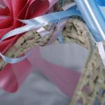 Cot ribbons close up