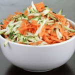 Grated carrot and courgette