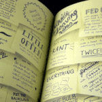 Hungry recipe book - post-its