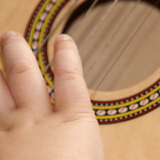 Playing guitar - music