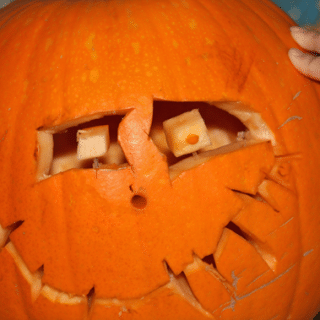 The finished pumpkin