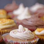 Lemon, vanilla and chocolate fairy cakes (recipe)