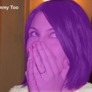 A Mummy Too turns purple