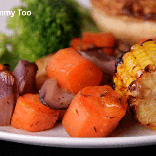 Sweetcorn Bites and a recipe for lazy roasted vegetables