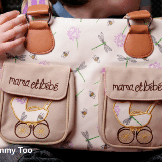 Mama et Bebe Thistle and Dragonfly changing bag from Pink Lining
