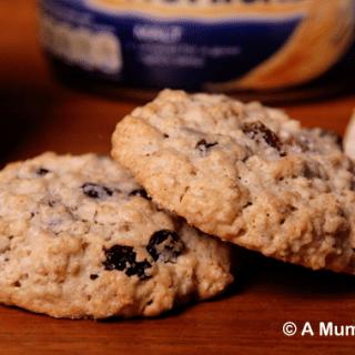 Choc chip, raisin and sunflower seed breakfast cookies