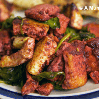 Veggie tandoori treats (Part 2): Tofu, paneer and spinach curry