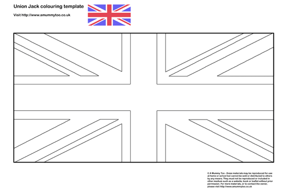 Union Jack Colouring In Template