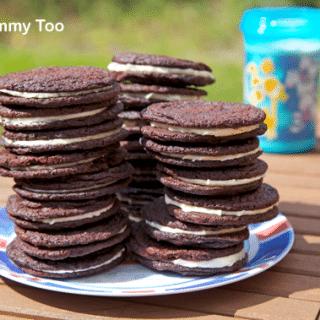 Homemade Oreo-style cookies