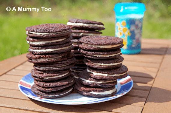 Homemade Oreo style cookies