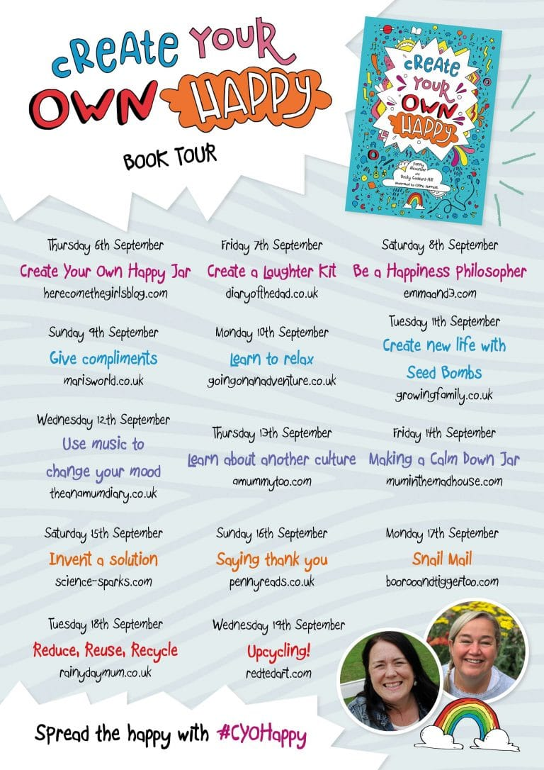 Create your own happy book tour information.