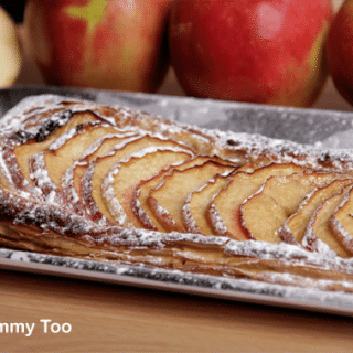 Quick puff pastry apple tart recipe