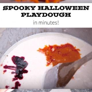 How to make spooky Halloween play dough