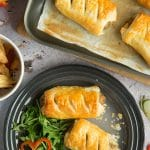 Quick vegetarian sausage rolls – perfect lunchbox recipe