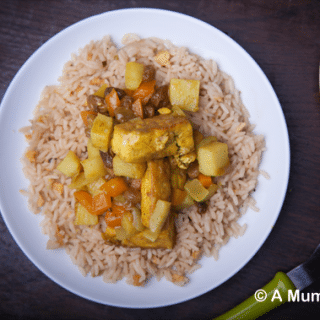 No chicken-licken' tofu curry (great for kids)