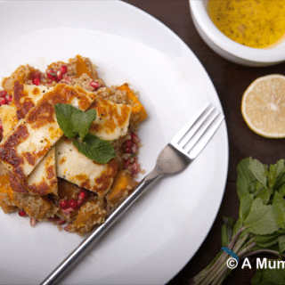 Cooking with Gousto: spiced pumpkin and halloumi on bulgar wheat (recipe)