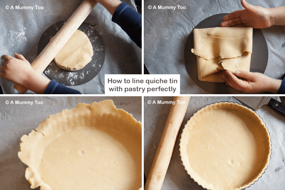 How to line a tin with pastry perfectly every time - 4-step method