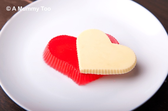 How to make jelly (jello) Valentine's heart desserts