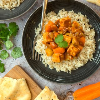 No-chicken, tofu-lickin' curry (great for kids)