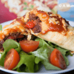 Vegetarian mince and red pepper enchiladas