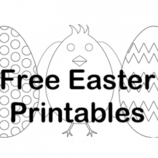Free Easter printables - chick and eggs