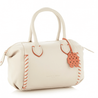Handbag love: Cream Contrasting Stab Stitched Grab Bag by Bailey & Quinn London