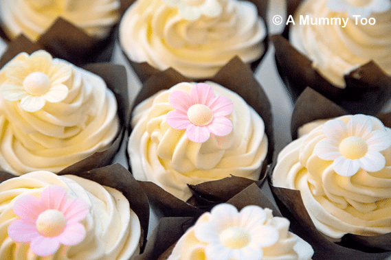 Lemon frosted Mother's Day Muffins