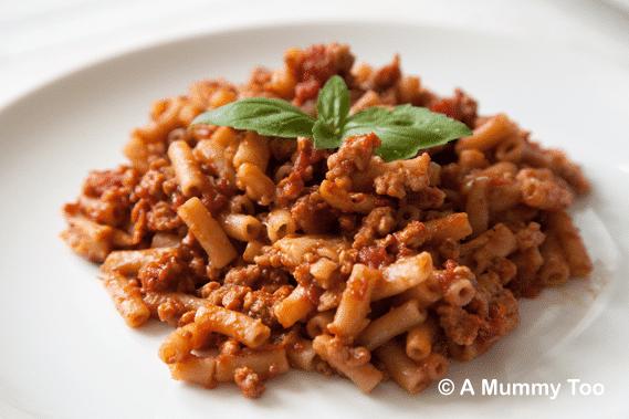Mock meaty macaroni (slow cooker recipe)
