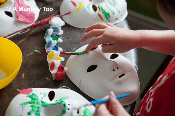 mask decorating a fun easy craft activity for kids a