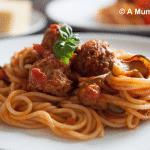 Spaghetti and meatballs…veggie style