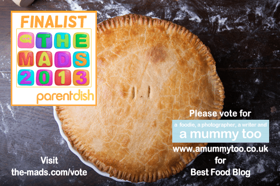 vote for amummytoo.co.uk best food blog - mads finalist