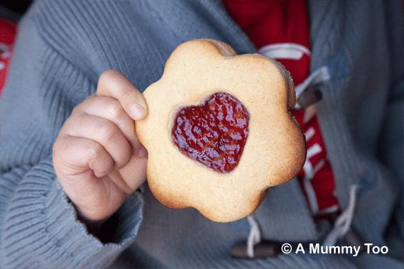 Giant Jammie Dodger biscuit