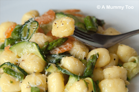Garlic vegetable gnocchi