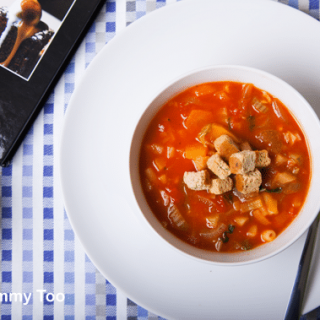 From scratch, low fat minestrone recipe