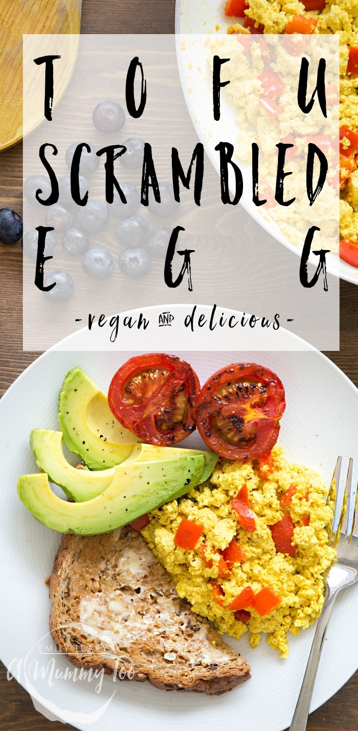 Vegan scrambled eggs made with tofu - a delicious breakfast treat or snack #recipe #vegan