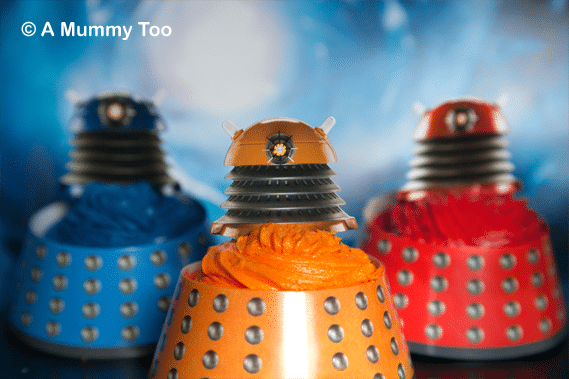 AWESOME Doctor Who 50th Anniversary Dalek Cakes (includes full recipe)