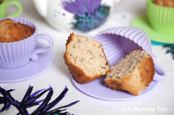 Earl Grey cupcakes in teacup cupcake cases