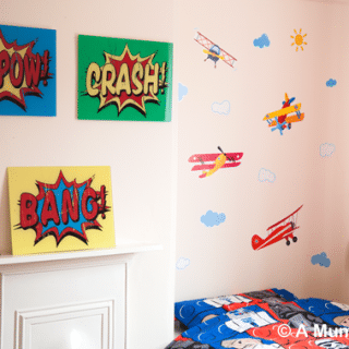 How we transformed JD's bedroom for £50