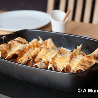 Cinnamon No-Chicken Enchiladas (recipe)