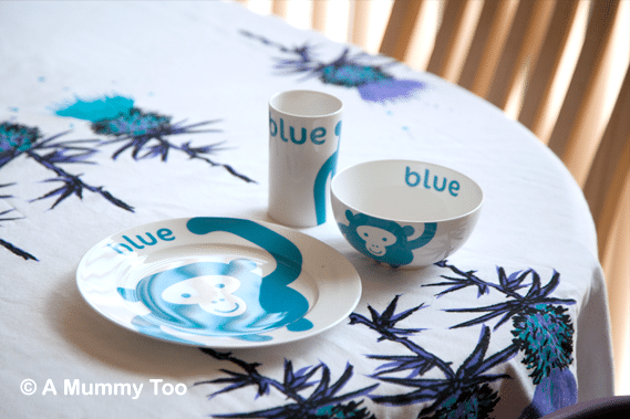 Colourful Dove Monkey Dinnerware Set £24.99 & Colourful Dove monkey motif childrenu0027s dinnerware set (review) - A ...