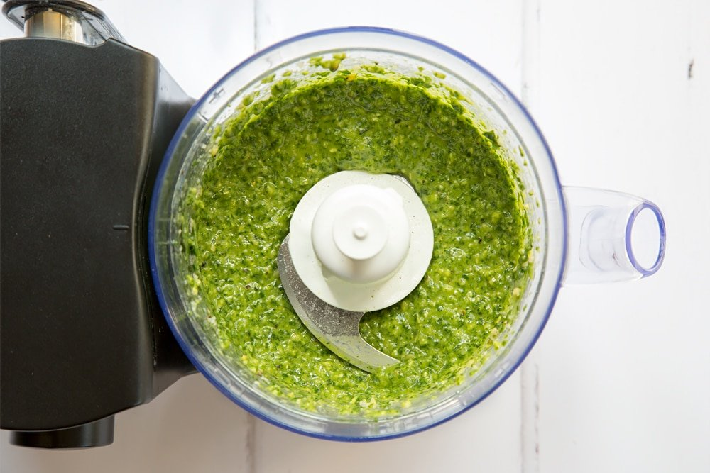 Season the pesto to taste