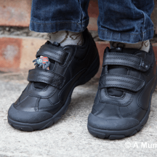 Arachnid Black Leather Start-rite Shoes with Floppets