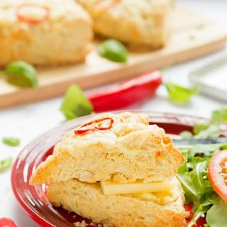 Chilli cheese savoury scones