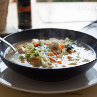 Chinese Little Gem and Tofu Soup (a 'Soup Can Make You Thin' recipe)