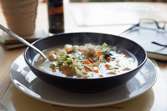 Chinese Little Gem and Tofu Soup