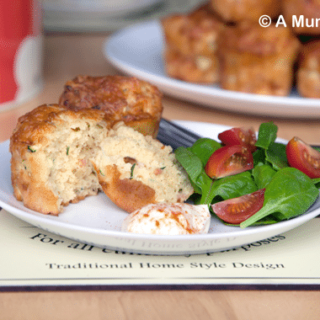 Savoury courgette & cheese muffins