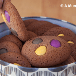 Chewy chocolate cookies (and a trip round Cadbury World)