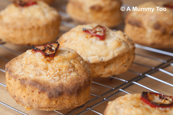 Yummy chilli cheese savoury scones - really easy, no proving required!