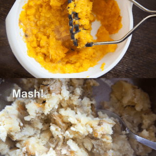 Mashed roast veg whenever you want it (quick food tip)