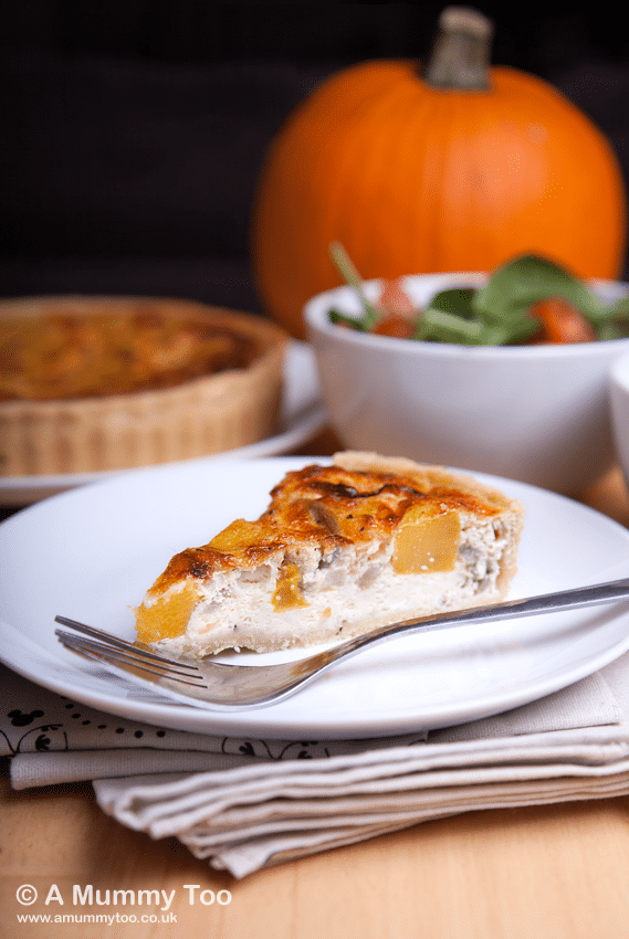 It's that time again - Halloween treats and pumpkins eats are plentiful, and here's my offering - a moist, filling roast pumpkin and caramelised quiche with a short, buttery pastry. It's easy to make and looks really effective at the table.